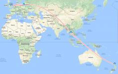Nowa Zelandia - Plan Lotu