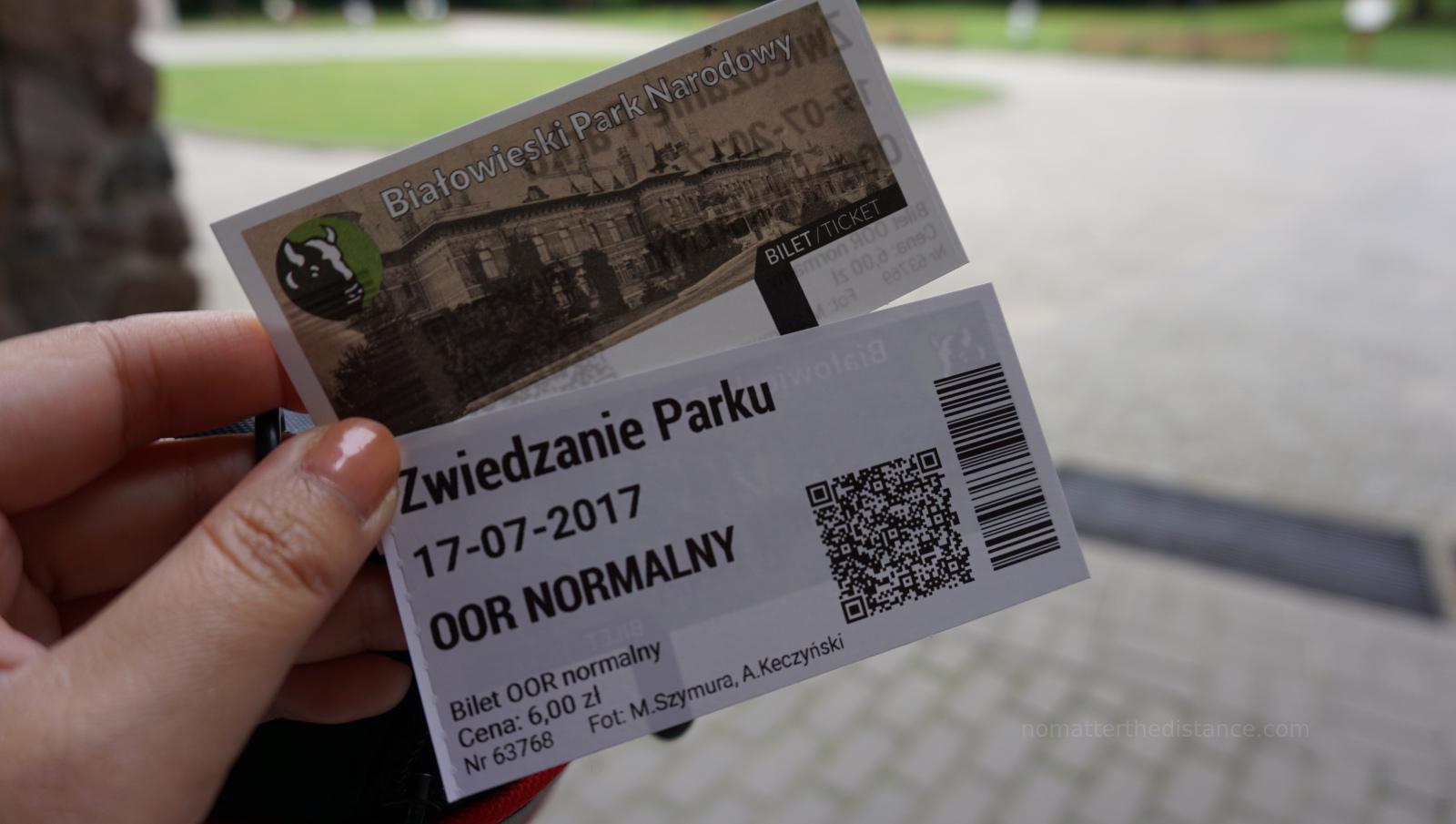 Park Bialowieski - Bilet