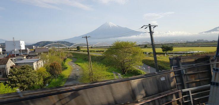 Widok Fuji w drodze do Kioto
