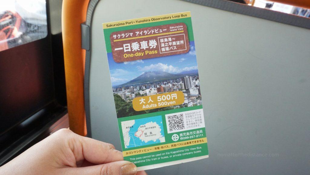 Kagoshima - bilet całodniowy na autobus w Sakurajioma