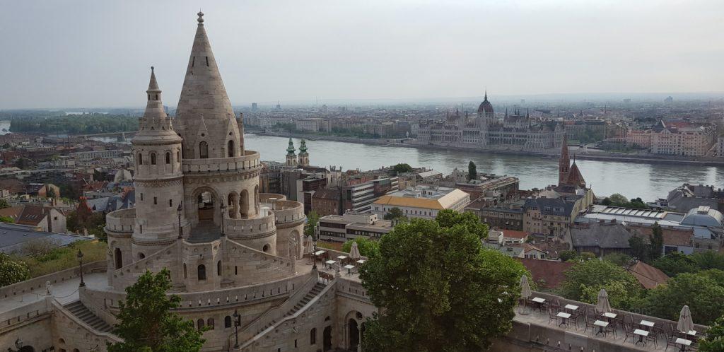 Zwiedzanie Budapesztu - widok z pokoju z Hilton Budapest