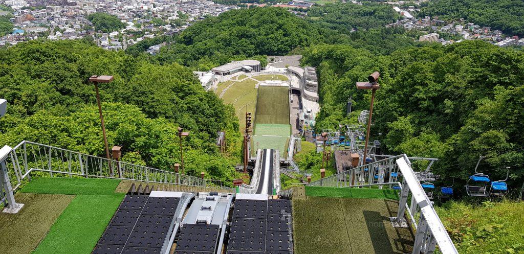 Widok ze skoczni narciarskiej w Sapporo