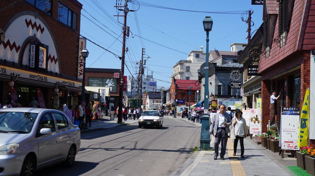 Główna ulica w Otaru - mieście nie daleko Sapporo