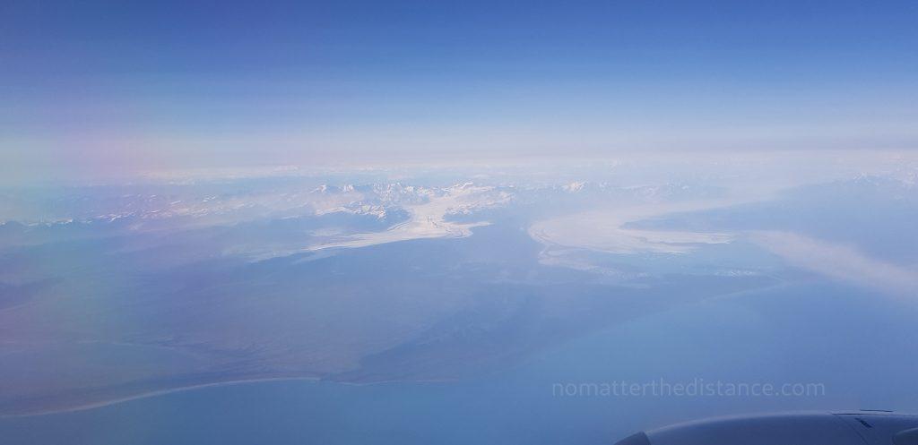 Lot do Anchorage - widok lodowców