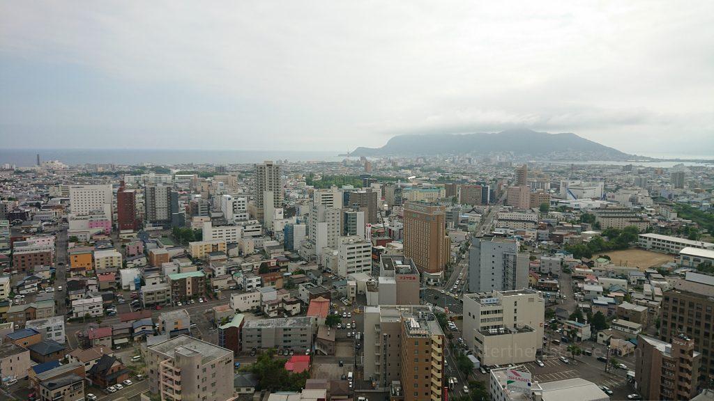 Zwiedzanie Hakodate - widok na miasto z wieży