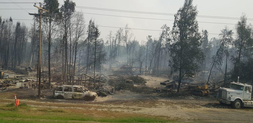 W drodze do Talkeetna - pożary lasów