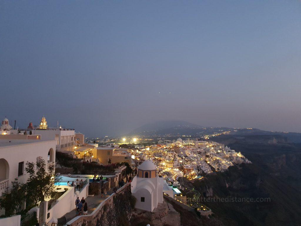 Santorini - Fira nocą