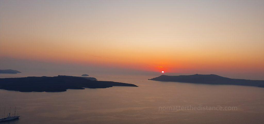 Santorini - zachód słońca